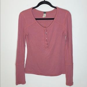 Free People Thermal Button Up Henley